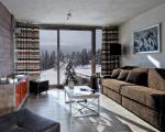 квартиры в комплексе в шамони, гостиная, меблировка в гостиной