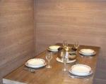 квартиры в комплексе в шамони, стол в гостиной, пример сервировки