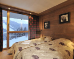 квартиры в комплексе в шамони, спальня, вид из окна