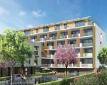 Вид на жилой комплекс в Ла Сейн сюр Мер, сад на территории